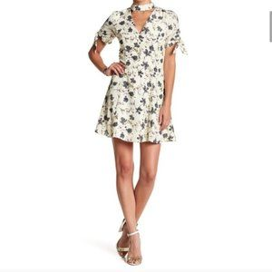English Fit & Flare Choker Dress Floral NWT S